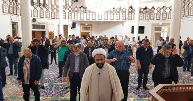 صلاة عید الاضحي فی مسجد الامام علی علیه السلام دنمارک