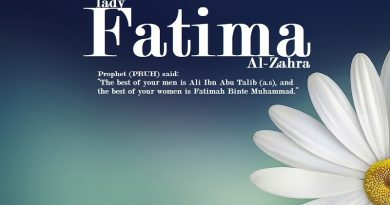 Traditions referring to the merits of Hazrat Fatimah (s.a)